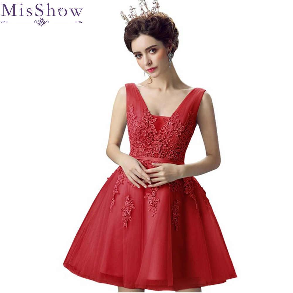 В наличии Короткие Выпускные платья 2019 Сексуальная спинки кружево до красное платье для выпускного бала торжественное платье для женщин вечерние платья Robe De Soiree
