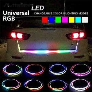 Promotion! New Hot Sale Auto Car Tailgate Turning Signal Light Bar RGB LED Strip Trunk Light Strips Multicolor Braking Lamp