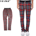 Fear of God Red Black Plaid Pant Scotland Style Side Zipper Pant New Fashion Skinny Pant KMN0161-5