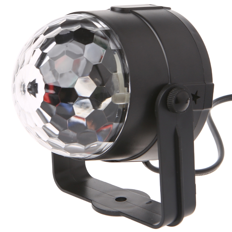 LED Disco Ball Dj Disco Ball Stage Light 3W 220V 7 Colors Sound Activated Strobe