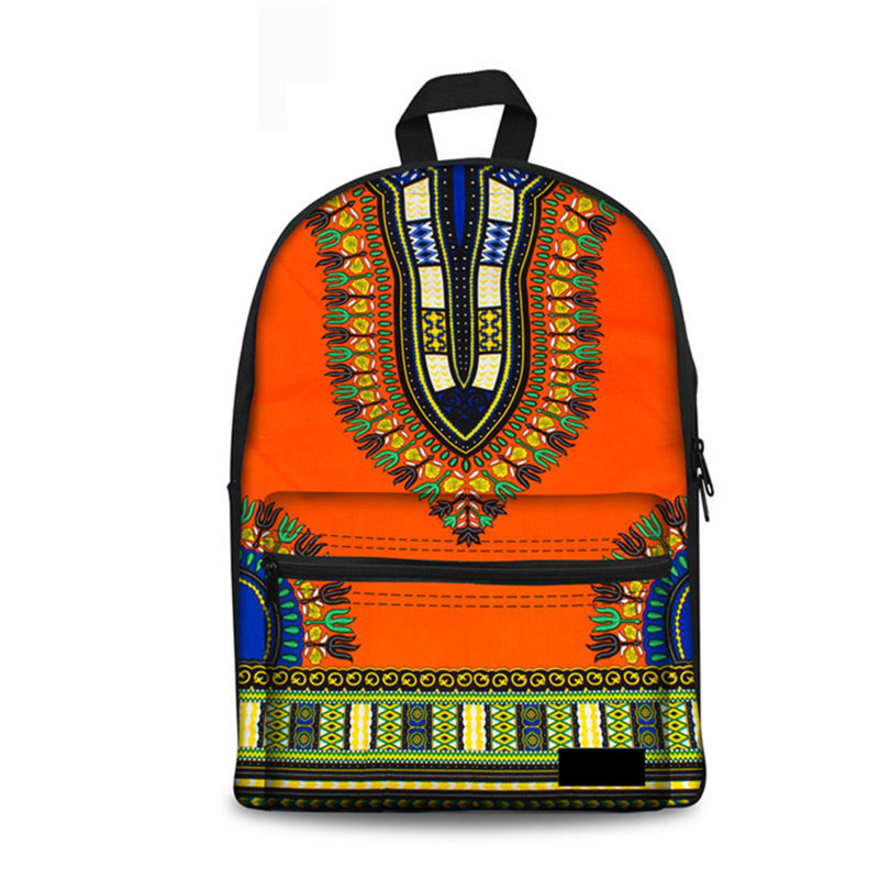School Backpack For Children African Printing Teenager Girls Retro Book Shoulder Bag Fashion Canvas Womens Schoolbag New
