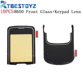RTBESTOYZ 10PCS/Lot New LCD Front Glass Screen Lens & Keypad Lens Panel Set For Nokia 8600 Luna