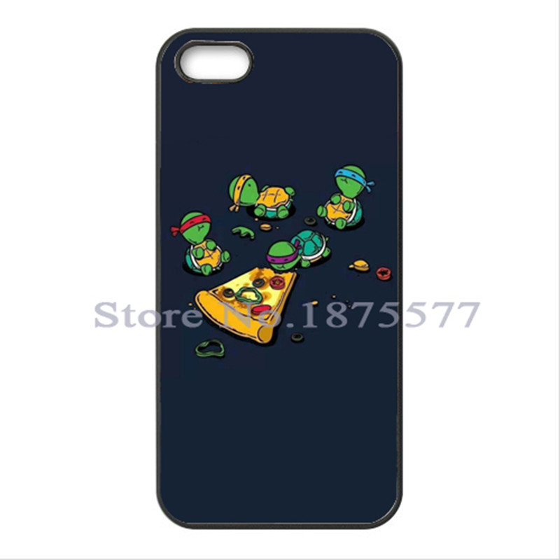 Teenage Mutant Ninja Turtles TMNT Eating Pizza Cover Case for iPhone 4 4S 5 5S 5C 6 6S Plus For galaxy S3 S4 S5 Mini A3 A5 A7