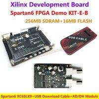 FPGA Demo Board Xilinx Spartan6 XC6SLX9 256M SDRAM EEPROM FLASH SD Card Camera VGA Interfaces AD