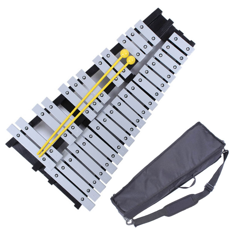 30 Note Xylophone Piano Fleet Foldable Glockenspiel Vibraphone New Music Knock e Piano Percussion Instrument And Paino Bag plus size bow piano music note dress