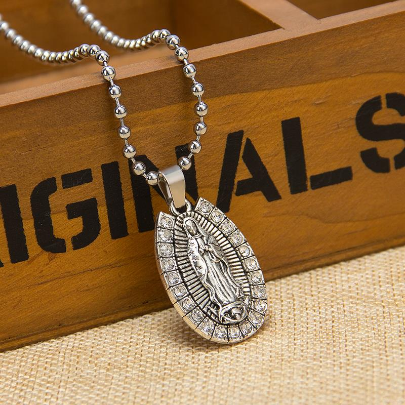 product 12pcsReligious alloy Jesus maria pendant necklace beads adorn article