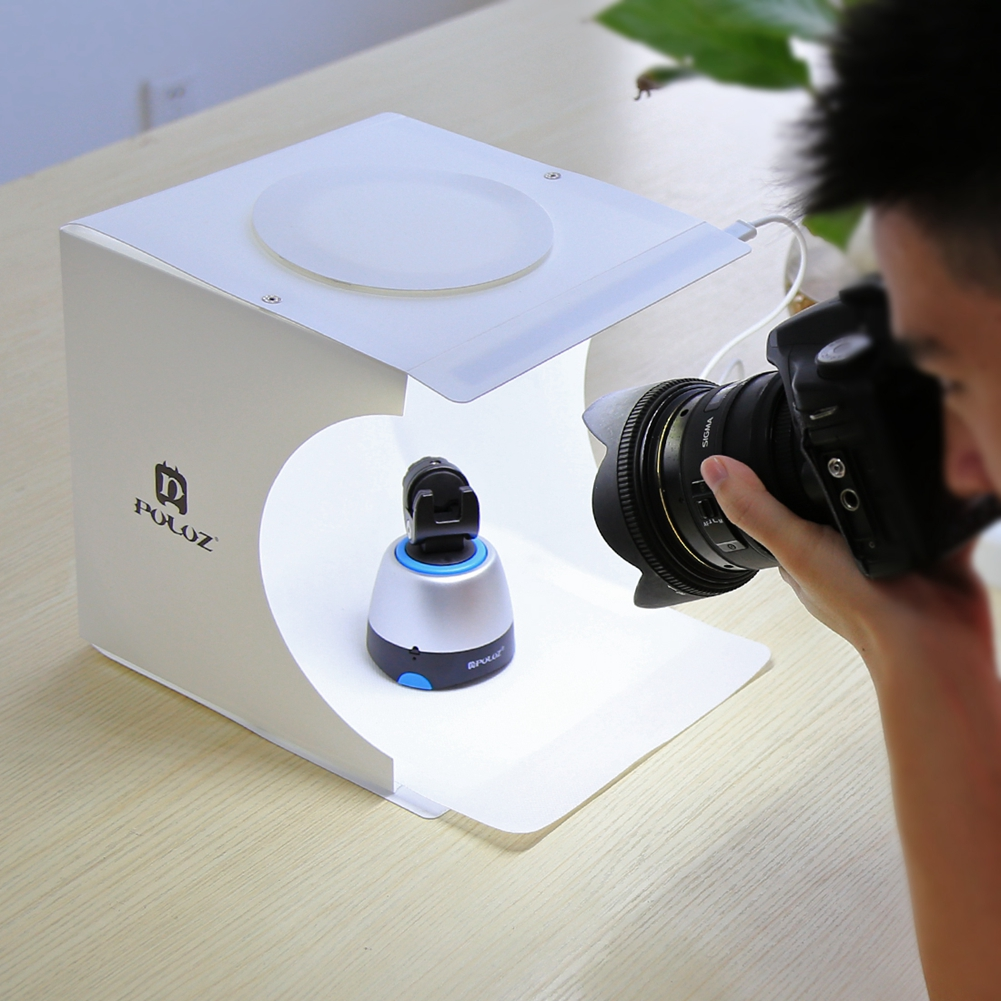 24x23x22cm Portable Mini Photo Studio Box Photography Backdrop built-in Led Light Photo Box Photography Backdrop Box Lightbox