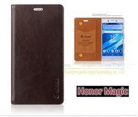 Lüks En Kaliteli Hakiki Deri Standı Moda Kitap Style Telefon Çanta Durumda Huawei Onur Için Sihirli 5.09 inç Flip Kapak