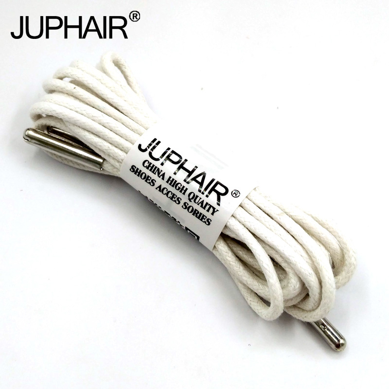 1-12 Pairs White High Quality Unise Laces Waxed Round Shoelaces Sneaker Solid Polyester Twisted Boots Shoes Metal Head Shoelaces nidec x17l50bs2m3 07 dc 50v 3 12a 150x150x50mm server round fan