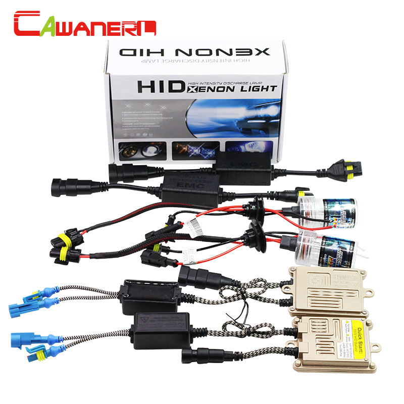 Cawanerl 55W 9005 9006 H1 H3 H7 H8 H9 H11 880 881 HID Xenon Kit Lamp AC Ballast Canbus Anti Flicker Decoder 12000K Car Headlight buildreamen2 55w 9005 9006 h1 h3 h7 h8 h9 h11 880 881 hid xenon kit ac ballast bulb 10000k blue car headlight lamp fog light
