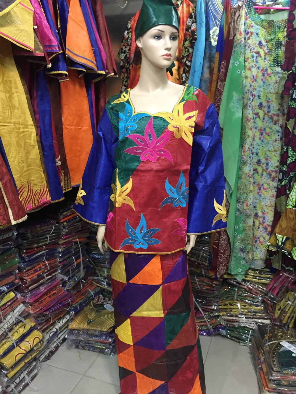 Buy The New African Clothing Hot Style Fashion Design Bazin Fabric Wax Design