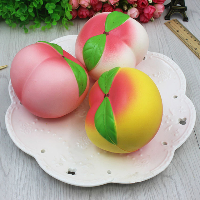 Squishy Peach Shaped Phone Toys