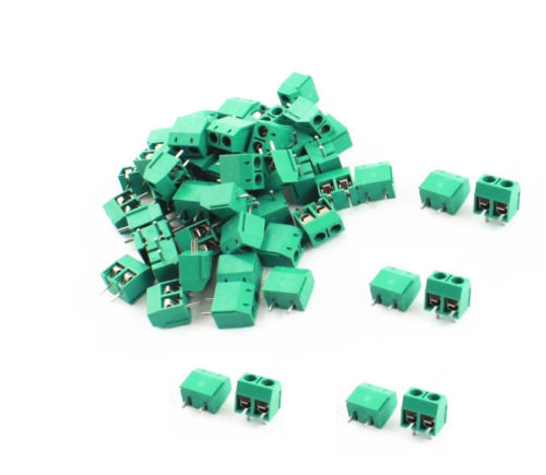 10PCS KF301-2P 2 Pin Plug-in Screw Terminal Block Connector 5.08mm Green