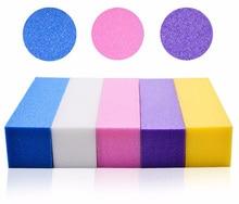 4Pcs/Lot Sanding Sponge Nail File Buffer Block for UV Gel Polish DIY Art Manicure Pedicure White Buffers