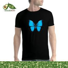 Blue Butterfly Animals Men T-shirt XS-5XL NewStreetwear Funny Print Clothing Hip-Tope Mans T-Shirt Tops Tees Hot Sale Men wolf full moon men t shirt xs 5xl newstreetwear funny print clothing hip tope mans t shirt tops tees hot sale men t shirt