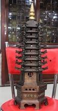 004252 Casa Feng shui Coppe Bronce Dragon head Wen Chang Feng Stupa Pagoda Torre de Buda