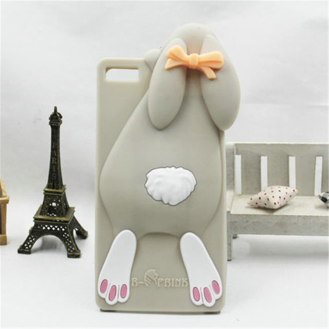 Cute Cartoon Bunny Rabbits Soft Silicone Case Cover For Huawei P8 P8lite ALE-L21 Skin Cover Phone Cases
