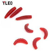 YLEO 60pcs/lot Soft Simulation Earthworm red Worms Artificial Fishing Lure Tackle Fishing Lure Worm Shrimp  bait Ocean цена 2017