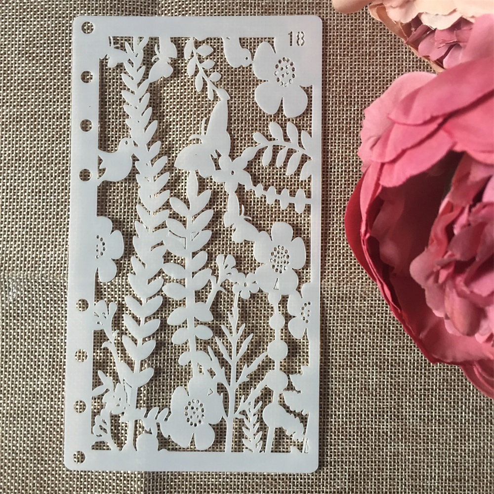 1Pcs A6 Plum Flower Butterfly DIY Craft Layering Stencils Painting Scrapbooking Stamping Embossing Album Paper Card Template