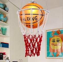Новые творческие дети спальня балкон Баскетбол подвесной светильник СВЕТОДИОДНАЯ лампа падение лампа E27 спальня столовая абажур для дома