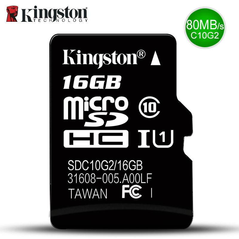 Carte Kingston Micro Sd Memory Card 16 GB Class10 sd 32 gb SDHC sdxc carta di deviazione standard Tf cartao de Memoria 16g c10 Per Smart Mobile phone