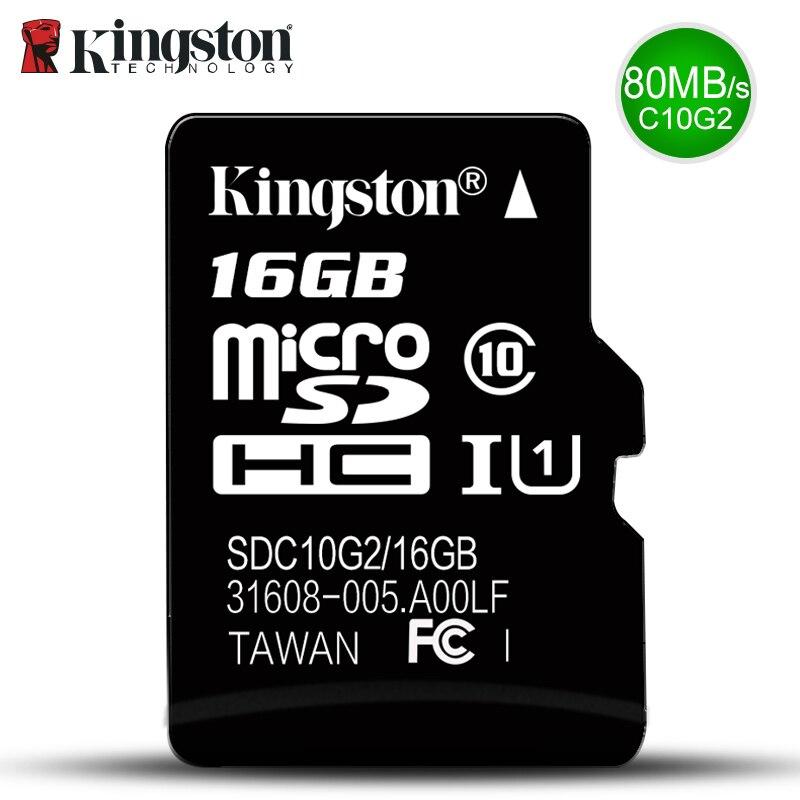 Kingston Micro Sd Cartão de Memória GB Class10 16 32 carte sd gb SDHC sdxc TF Cartão sd cartao de Memoria 16g c10 Para Smart Mobile phone