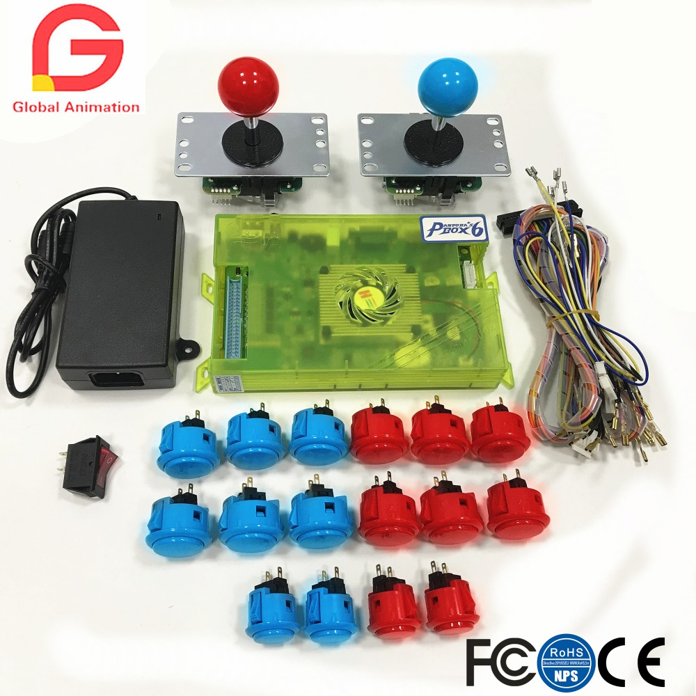 DIY Arcade Kit Pandora box 6 1300 in 1 game board & original SANWA joystick and Push Button for Arcade Machine цена