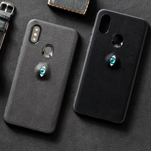 Phone Case For Xiaomi Mi 6 8 8SE Max 2 3 Mix 2s A2 case 3D Evil eyes Suede leather Back Cover Gift Friends and Children