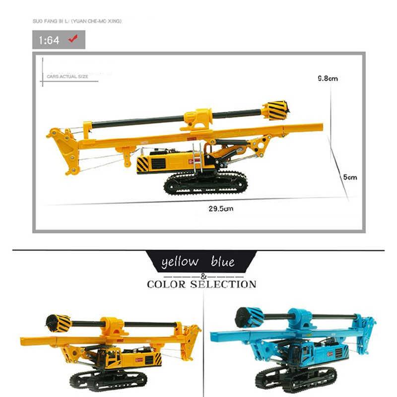 KDW aleación plataforma de perforación rotativa excavadora de orugas modelo de vehículo de construcción Diecast niños colección de juguetes de decoración