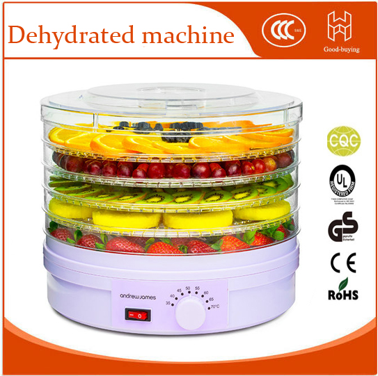 5 trays Dried Fruits And Vegetables Dehydrated Food Meat Machine Snacks Dryers  multi function hand shredder for fruits and vegetables