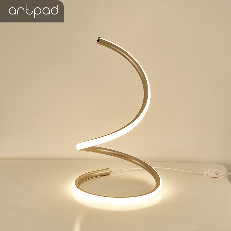 Artpad Style coréen Design de mode éclairage bureau 12 W réglable lampe de Table de bureau pour salon chambre chevet éclairage à la maison
