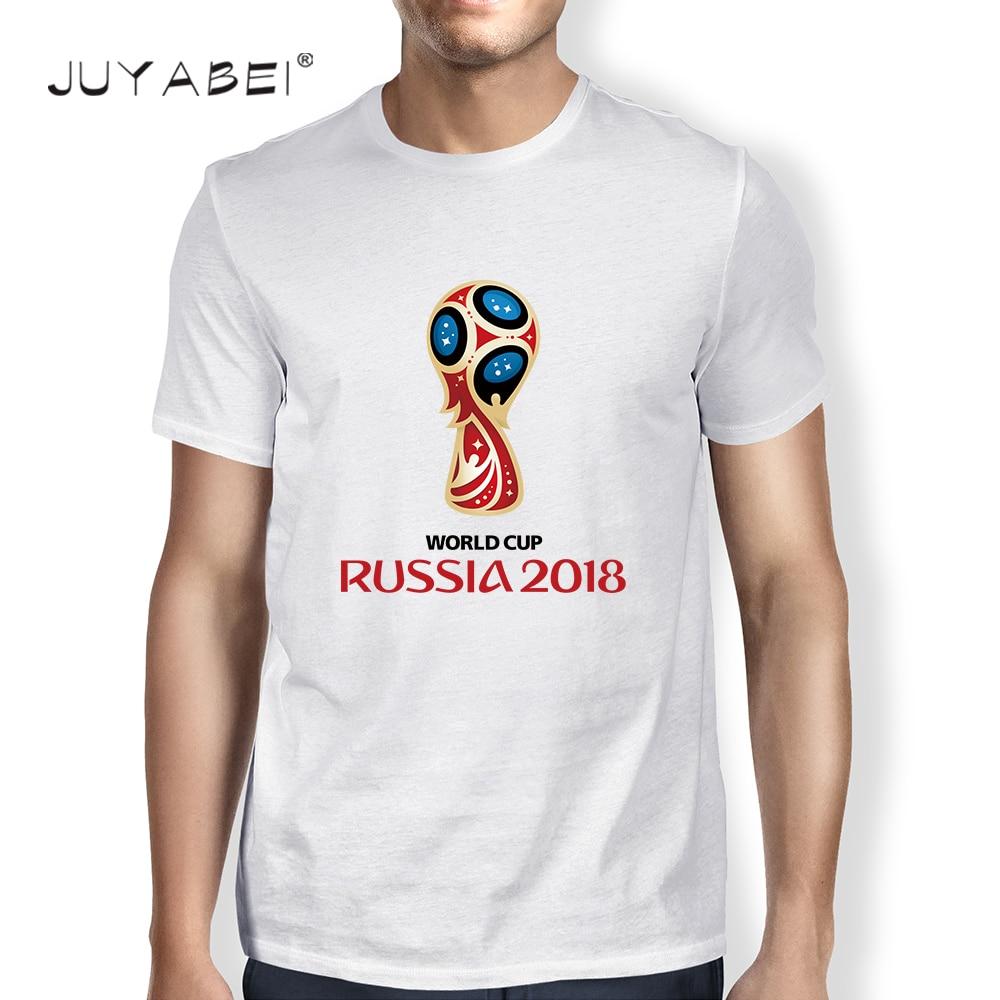 0619075e421a World Cup 2018 Russia Design Casual Short Sleeve Printed T-Shirt Men ...