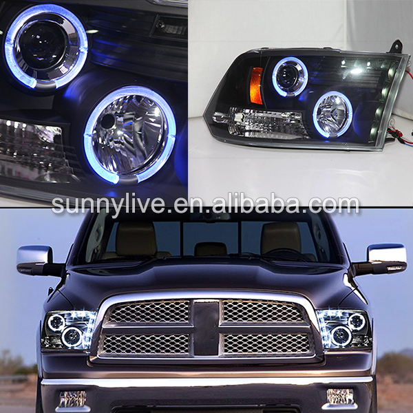 blue angel eyes headlamp 09 2012 year for dodge ram ram. Black Bedroom Furniture Sets. Home Design Ideas