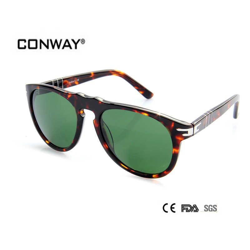 1fcc55ff1 CONWAY sunglasses men sunglases women CN0001S-DEMI-G15 real sunglasses  luxury retro gg tortoise