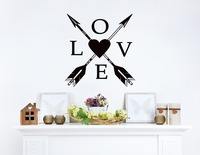 Removable Wall Stickers Boho Arrows Love Quotes Bedroom Decoration Wall Paper Heart Bohemian Wall Art Vinilos