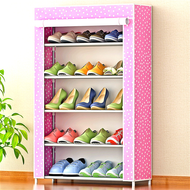 YN47 Non-woven 5 Tier Shoes Rack Shoe Cabinets Stand Shelf Shoes Organizer Living Room Bedroom Storage Furniture 12 grid diy assemble folding cloth non woven shoe cabinet furniture storage home shelf for living room doorway shoe rack