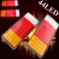 A Pair Car Indicator 44 LED Tail Light UTE Boat Truck Van Trailer For Camper Waterproof