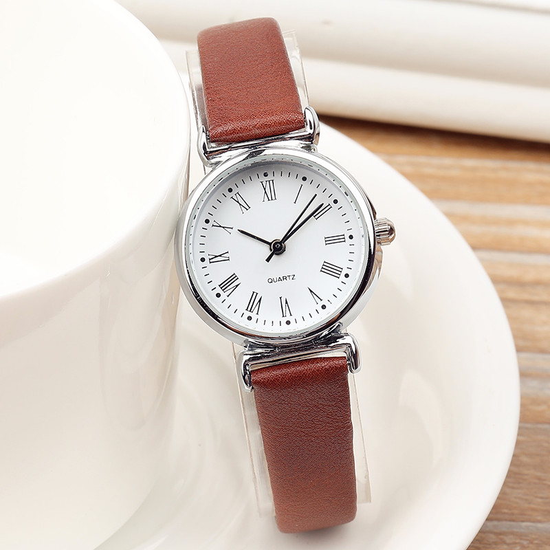Exquisite Small Dial Fashion Ladies Leisure Quartz Watches Women Mini Simple Female Retro Leather Wristwatches Clock Relogio in Women 39 s Watches from Watches