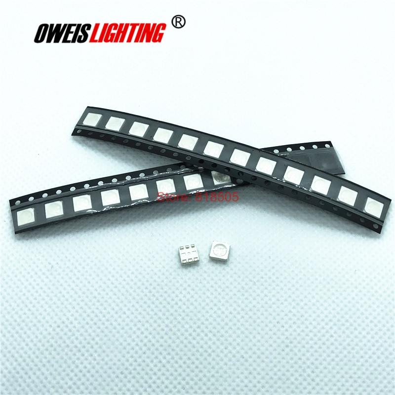 50PCS 5050 850NM (28-30mW) / 940NM (18-20mW)  SMD LED  IR LEDs 20mA 0.3w 1.3-1.5v 5.0*5.0mm Infrared Emitting LED Free Shipping