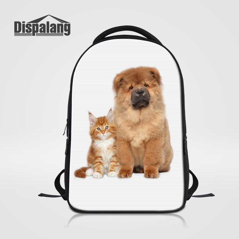 Dispalang Women Laptop Backpack Animal Dog Rucksack School Bags For College High Class Student Girl Daily Bagpack Mochila Rugtas