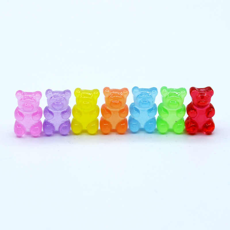 10 قطعة مقلد الدب الحلوى بوليمر الوحل مربع لعبة للأطفال سحر النمذجة الطين DIY كيت اكسسوارات الاطفال البلاستيك هدية