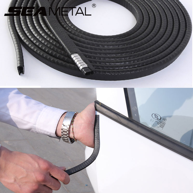 SEAMETAL Universal Car Door Edge Scratch 10M Strip Sealing Guard Trim Stickers