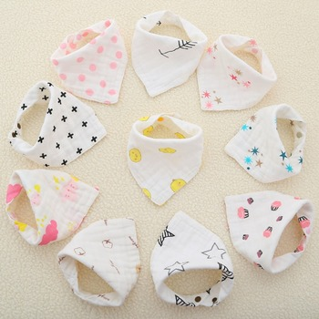 3pcs/lot 8 layers Muslin Cotton Baby Bibs Boys Girls Towel Cartoon Baby Bandana Bibs Newborn Infant Saliva Towel Toddler Clothes new cute baby bibs cartoon printing cotton newborn infant girls and boys toddler triangle scarf bandana