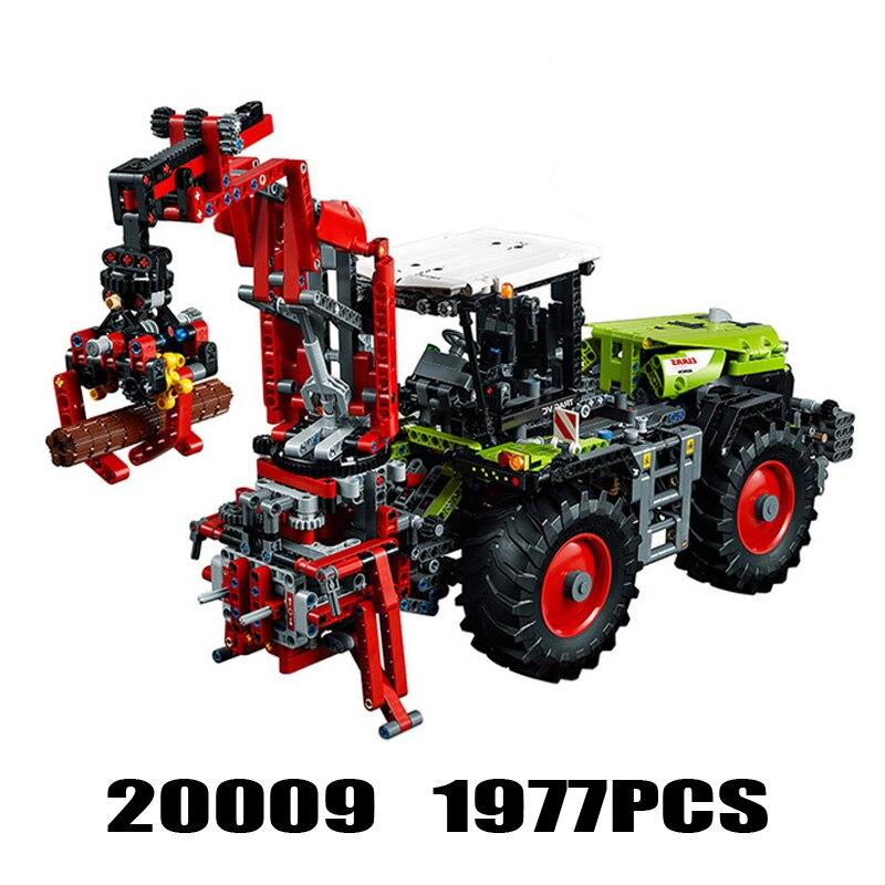 Technic Series 20009 1977PCS The Tractor 5000 Compatible 42054 Sets Model Building Kits Blocks Bricks Toys