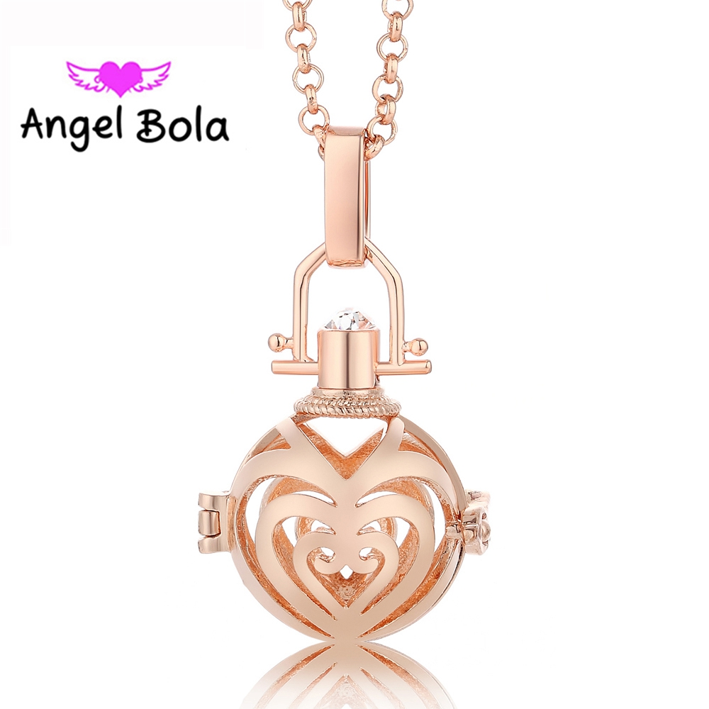 10PCS/Wholesale 20.5mm Angel Bola Lucky Love Mexican Cage Engelsrufer Pendant Harmony Caller Necklace Music Ball L080