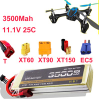 High Rate LIPO Battery 3s 25c 11 1v 3500mah Aeromodeling Aircraft Li Poly Battery 25C Low