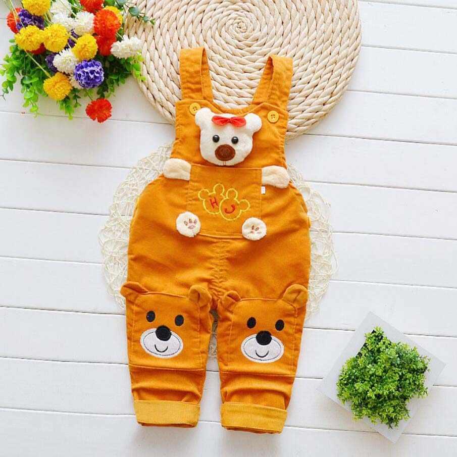 Infant kleidung Neue geboren baby hosen mädchen baumwolle nette jeans kleine kinder hosenträger denim jeans 0-4T baby mädchen cartoon hosen