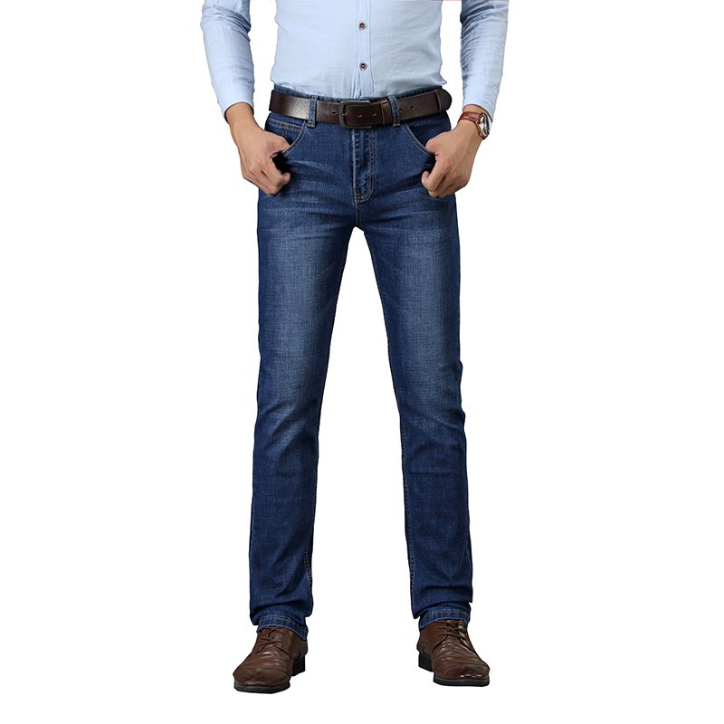 SULEE Brand  European American Style Stretch Men  Elasticity Skinny Jeans Business Casual Male Denim Slim Pants Classic Style-in Jeans from Men's Clothing on AliExpress - 11.11_Double 11_Singles' Day 1