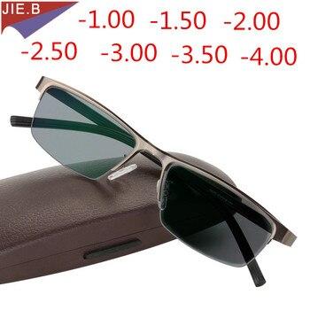 עסקים Photochromic משקפי שמש קוצר ראיה מסגרת משקפיים קוצר ראיה גברים סיימו נשים עם צבע עדשת קוצר ראיה משקפיים שמש Eyewear