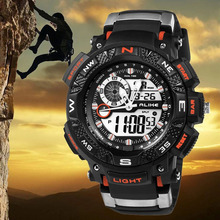 New ALIKE Led Digital Watch Men Luxury Brand Men Military Sports Watches For Men Quartz Watch 50M Water Resist Relogio Masculino